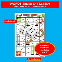 The Snakes and Ladders Spelling Game