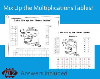 Free Maths Puzzle  Game Times Table  NinaLaZina