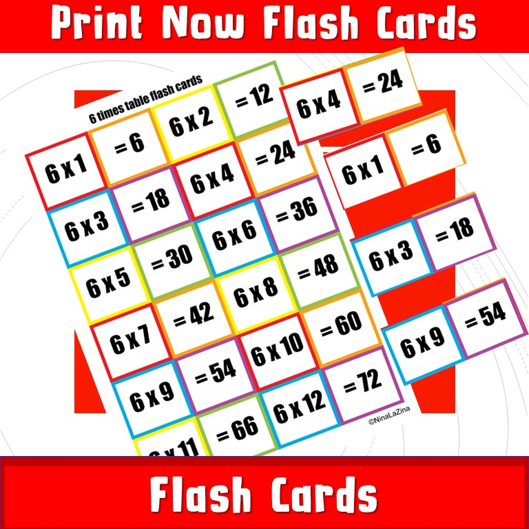Multiplcation Flash Cards