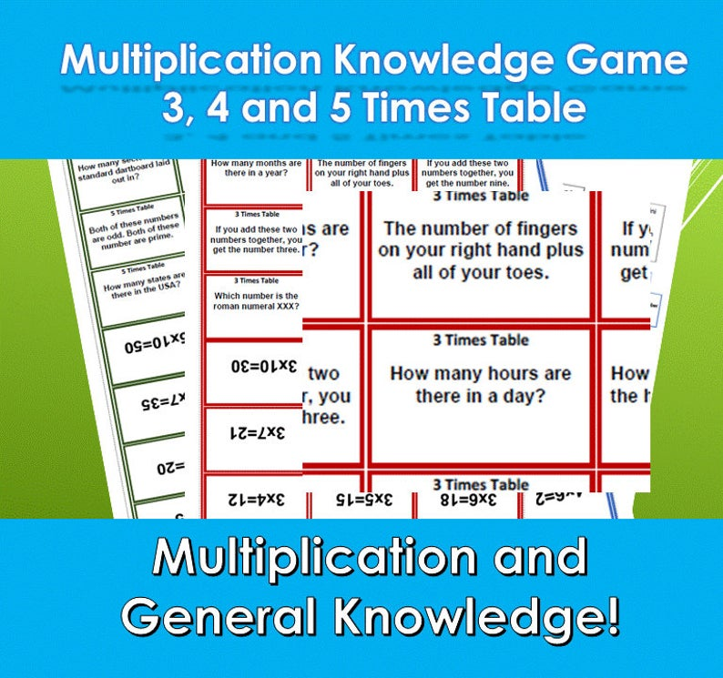 Facts and Multiplication Game