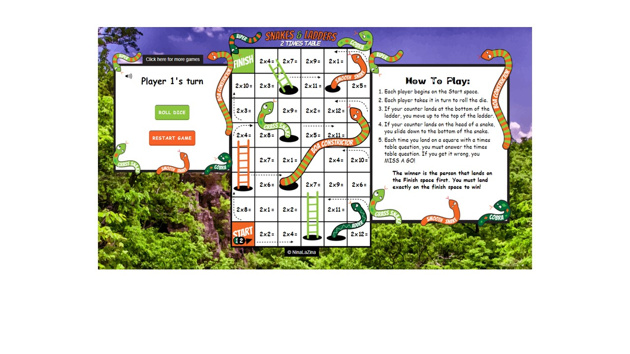 Online Multiplication Snakes and Ladders
