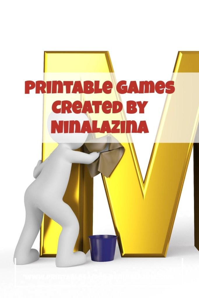Printable Multiplication Games By NinaLaZina