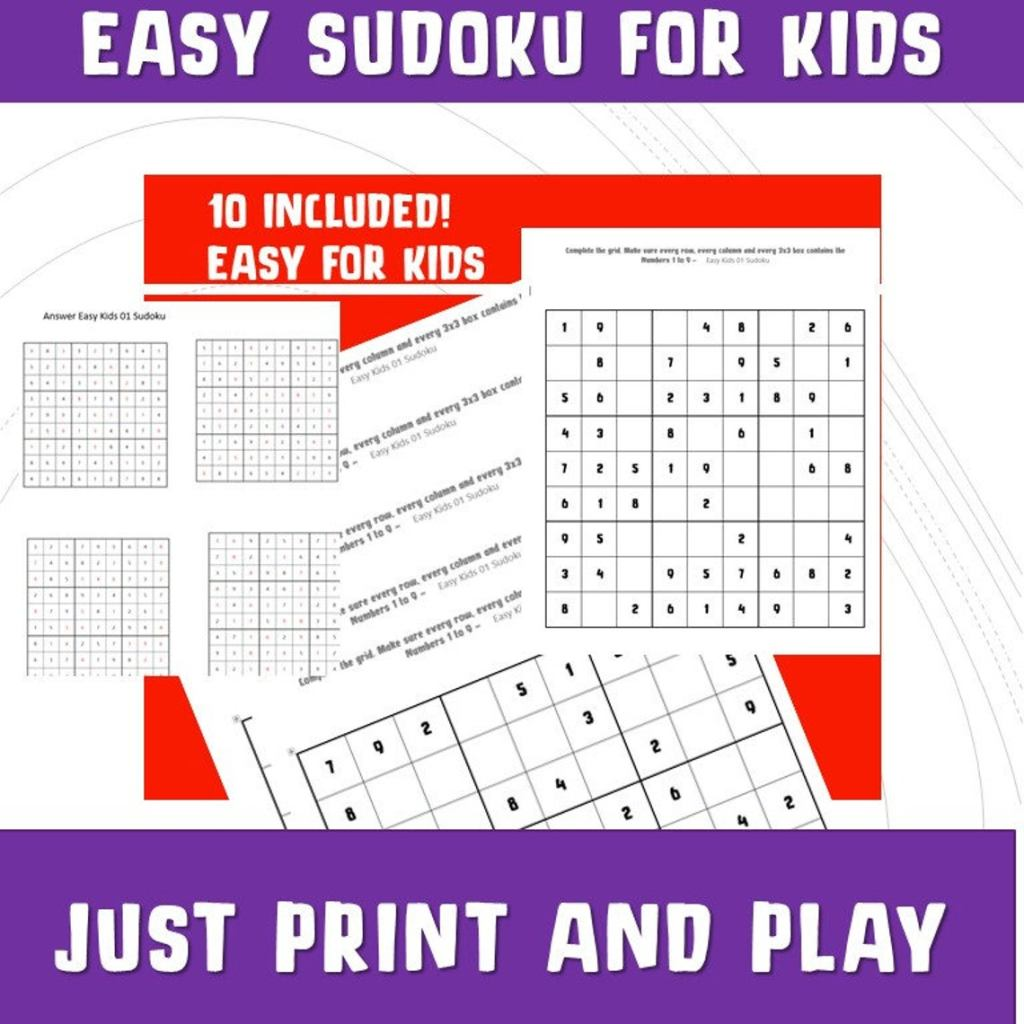 Maths Games Fun - learn thinning skills with Sudoku. Easy level for kids to enjoy.