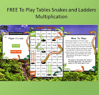 online times tables snakes and ladders game