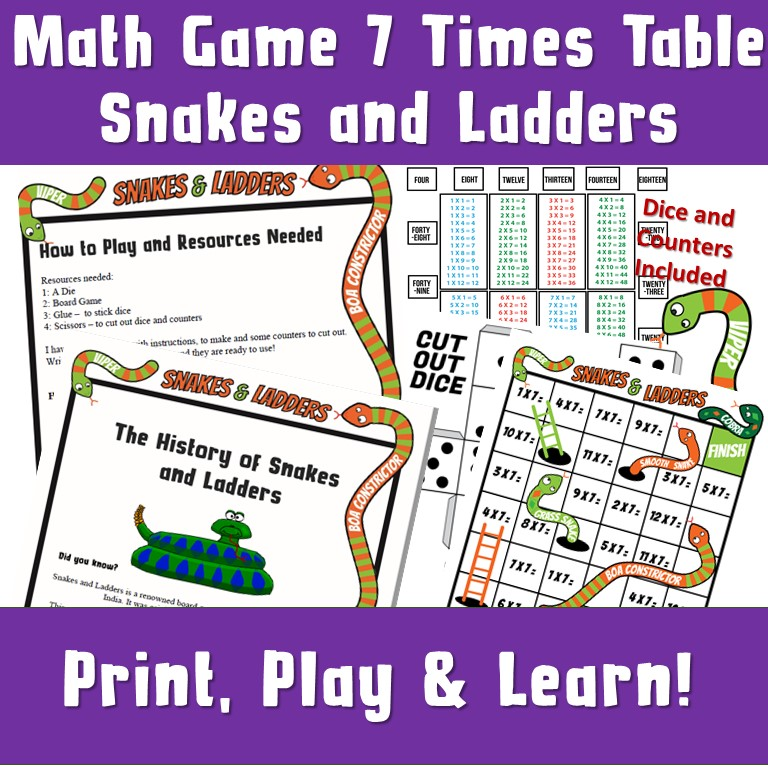 times tables snakes and ladders