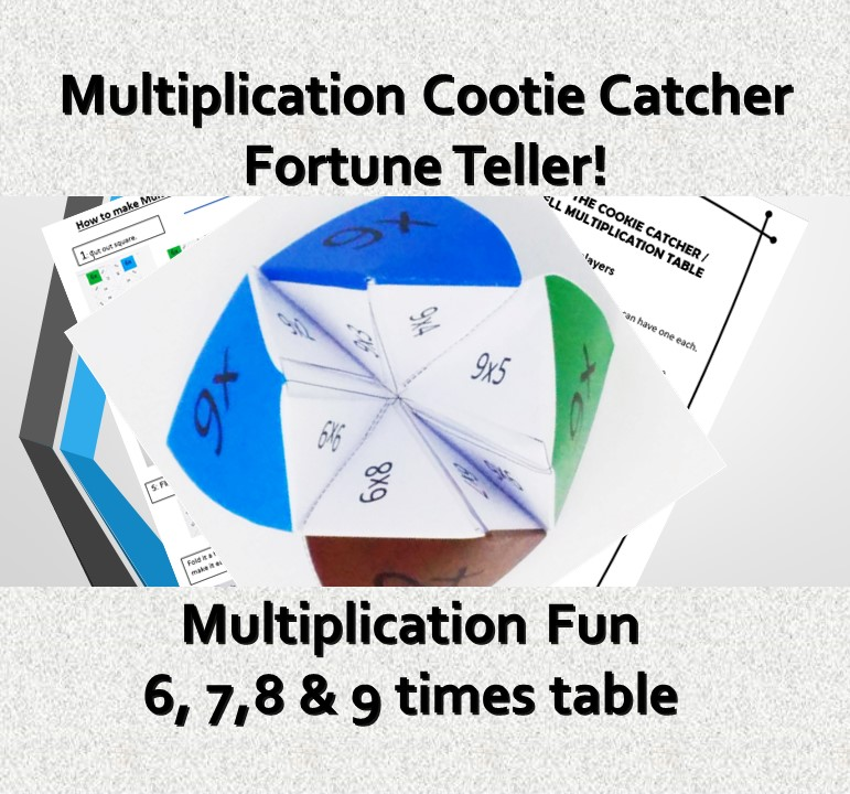 multiplication cootie catcher. Printable multiplication fun!