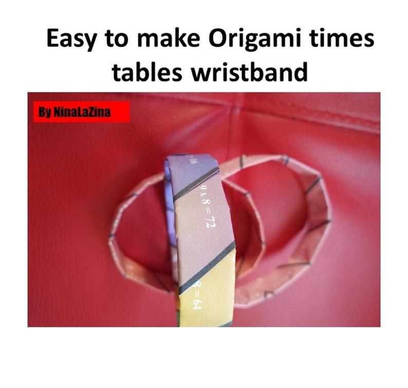 Multiplication printable wrist band