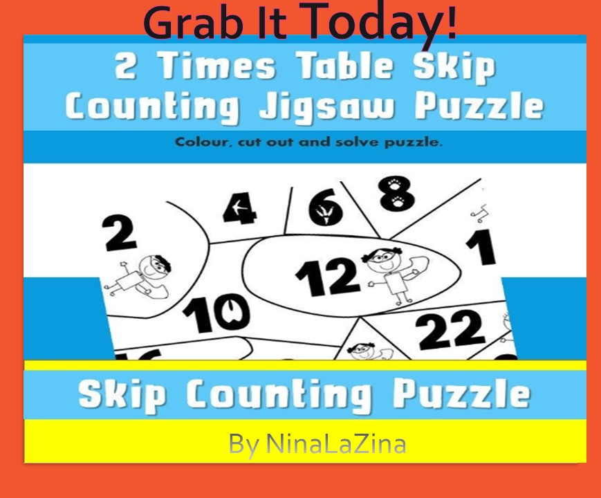Skip counting times tables free jigsaw