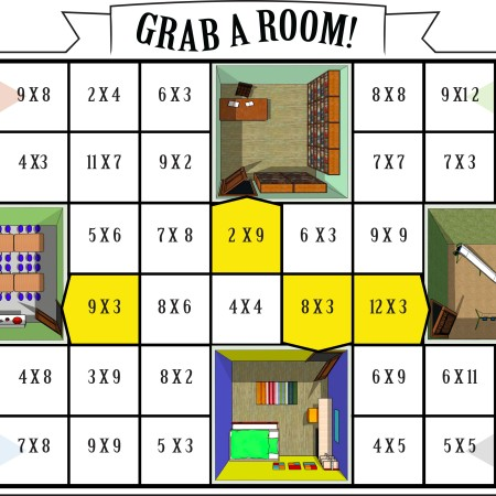 Multiplication Board Game Grab A Room
