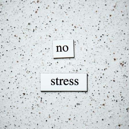 tiles say no stress