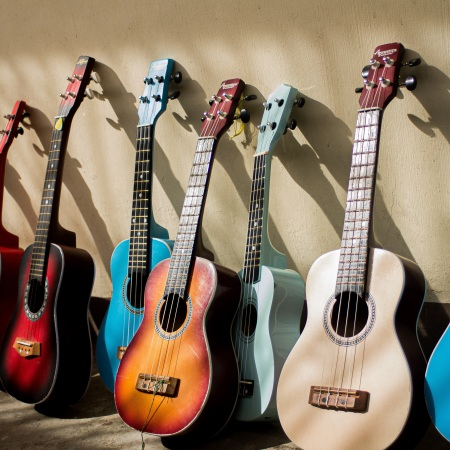 guitars various colour songs for times tables